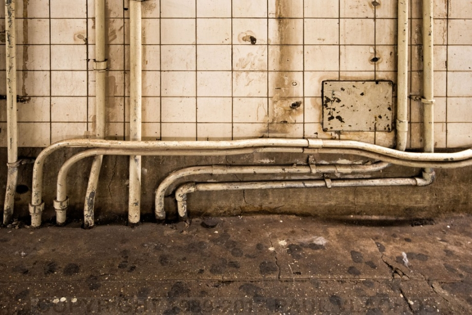 West Fourth Street Station, NYC - Old Chewing Gum and Conduits